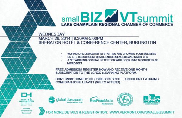 Join us at: Small BIZ VT Summit