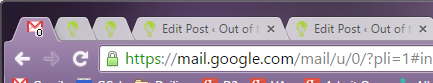 Pinned Tabs in Chrome